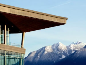 vancouver convention center and mountains